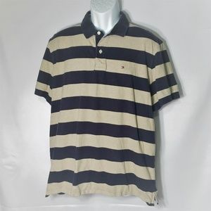 Tommy Hilfiger Custom Fit Polo Style Striped Shirt